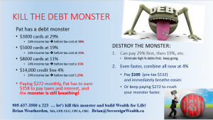 Wealth for life, debt monster